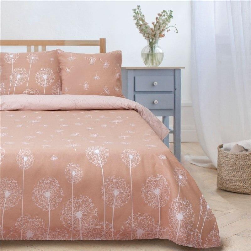 Bed Linen Ethel 1.5 CN Dandelions (type 1) 143*215 cm, 150*214 cm, 70*70 cm-2 pcs, poplin bed linen ethel 1 5 cn love 143х215 cm 150х214 cm 50х70 3 2 pcs ранфорс 111g m2