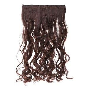 5 клипсов на клипсах, волнистые кудрявые шиньоны, ломтик волос, удлинение конского хвоста