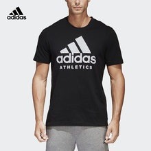 1f34fd17547 Adidas Official BRANDED TEE Man Running T-shirt Cotton Breathable Short  Sleeve Sports Shiirts BK3715