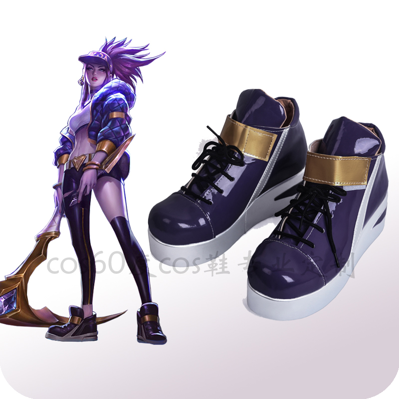 Game KDA Team Akali Cosplay Shoes LOL AKALI Cosplay Women Shoes Halloween Carnival Cosplay Boots Custom Made Cosplay Accessories