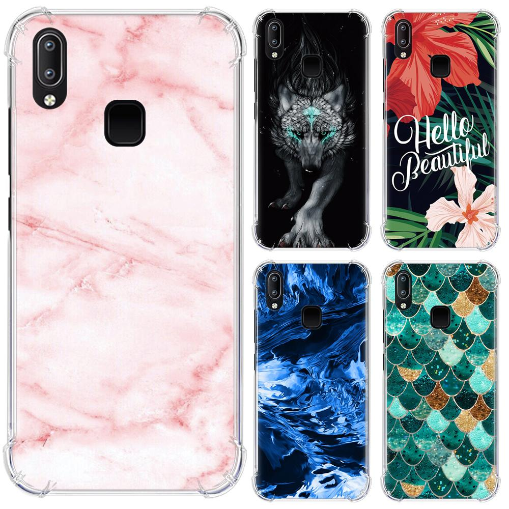 Anti-knock Phone Case For Vivo Y91 / Y95 / U1 / Y91i Fashion Design With Airbag Coloful Painted Back Phone Cover(China)