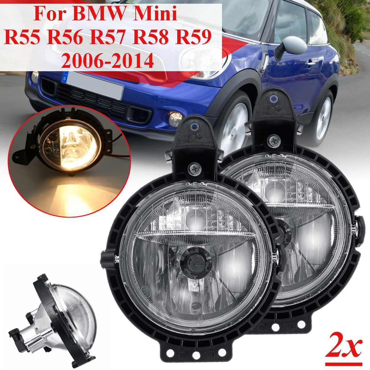 2 шт. автомобильный противотуманный светильник для BMW Mini R55 R56 R57 R58 R59 Clubvan Clubman Cooper Roadster Countryman одна лампа с лампой дальнего света