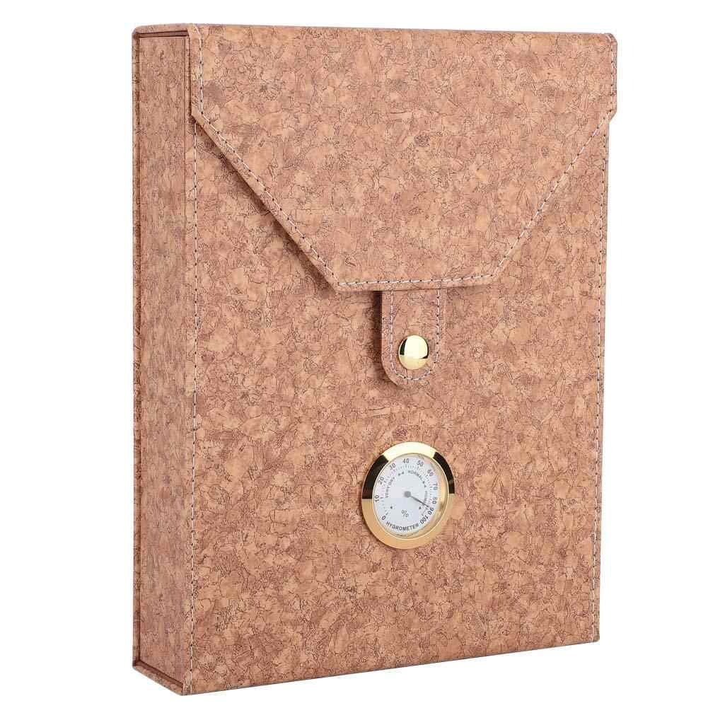 Мини Портативный кожаный ящик для хранения сигар из кедрового дерева, чехол для хранения сигарет