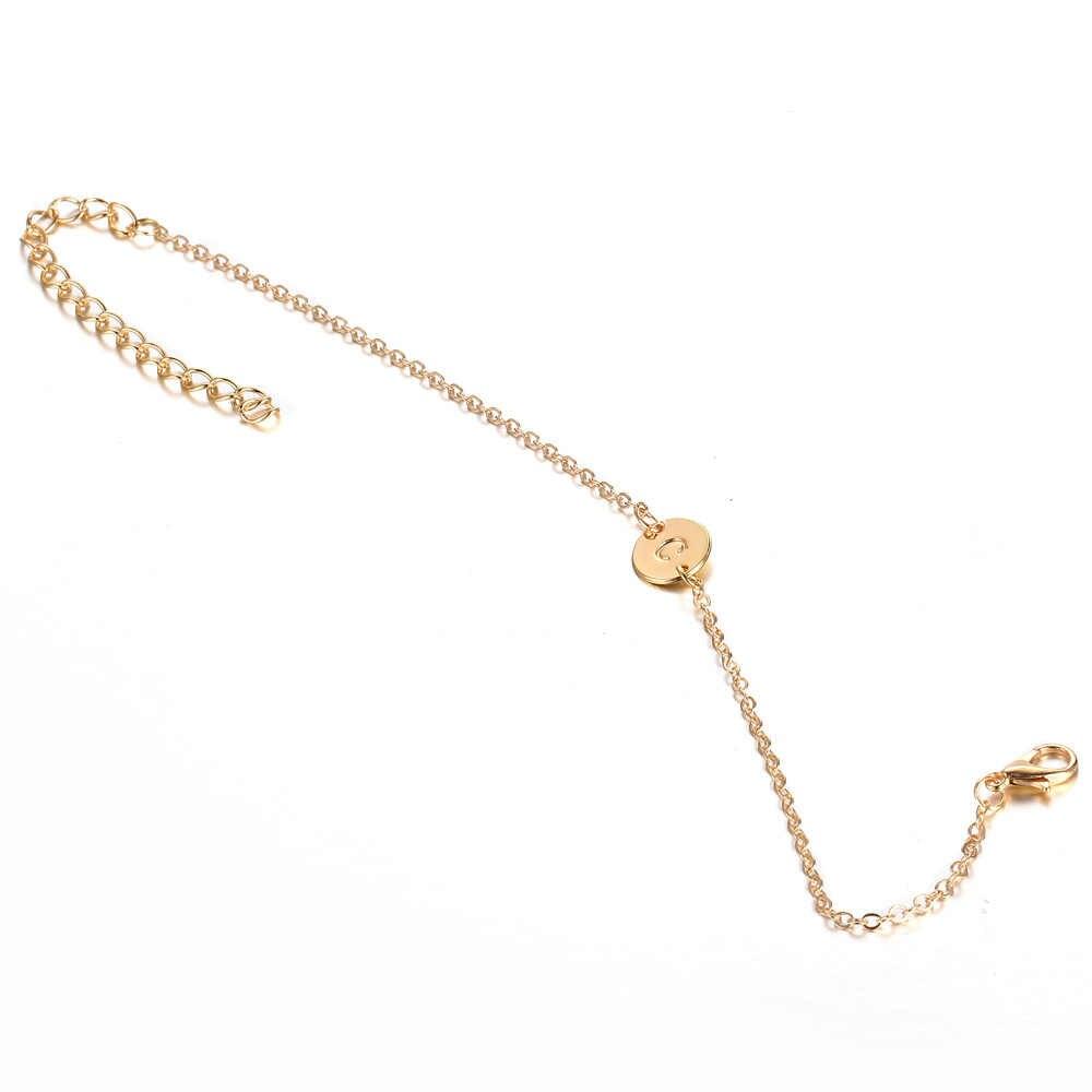 Новые круглые браслеты с подвесками Золотое имя подарочные браслеты и ювелирные изделия для женщин и мужчин модные привлекательные металлические браслеты