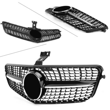 Car Front Grille Diamond Styling Moulding For Mercedes Benz C-CLASS W204 C180 C200 C300 2008 2009 2010 2011 2012 2013 2014 image
