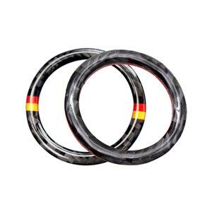 Image 3 - Dla Mercedes Benz C E klasa W205 W213 C180 C200 C300 GLC z włókna węglowego przycisk uruchamiający/wyłączający silnik samochodu przycisk pierścień kluczyka zapłonu pokrywa