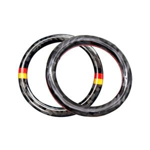 Image 3 - Pour Mercedes Benz C E classe W205 W213 C180 C200 C300 GLC en Fiber de carbone moteur de voiture démarrage arrêt bouton poussoir dallumage porte clés couverture