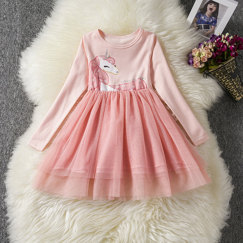 Lovely My Little Pony Unicorn Dresses Kids Girls Formal Tutu Party Dress Clothing Set Sweet Style 3 Color cosplay costume