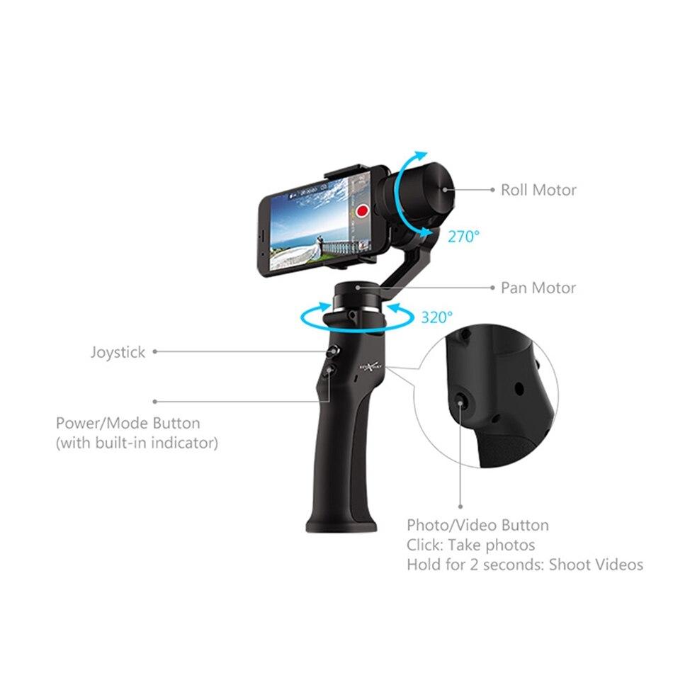 Eyemind 3 محور الدوران الذكية ذكي بلوتوث التطبيق يده مثبت أفقي الوجه تتبع وظيفة ل هاتف مزود بكاميرا طائرة بدون طيار FPV-في قطع غيار وملحقات من الألعاب والهوايات على  مجموعة 3