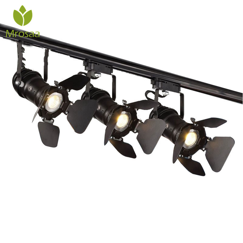 Mrosaa Retro Minimalistische E27 LED Tracking Licht Spot Light Plafondlamp 110 V/220 V Indoor Verlichting voor Hal kleding Winkel Bar