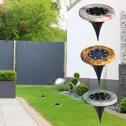 4pcs Solare 8 LED Imitazione di Marmo A Terra La Luce Esterna Impermeabile Lampada del Prato Inglese