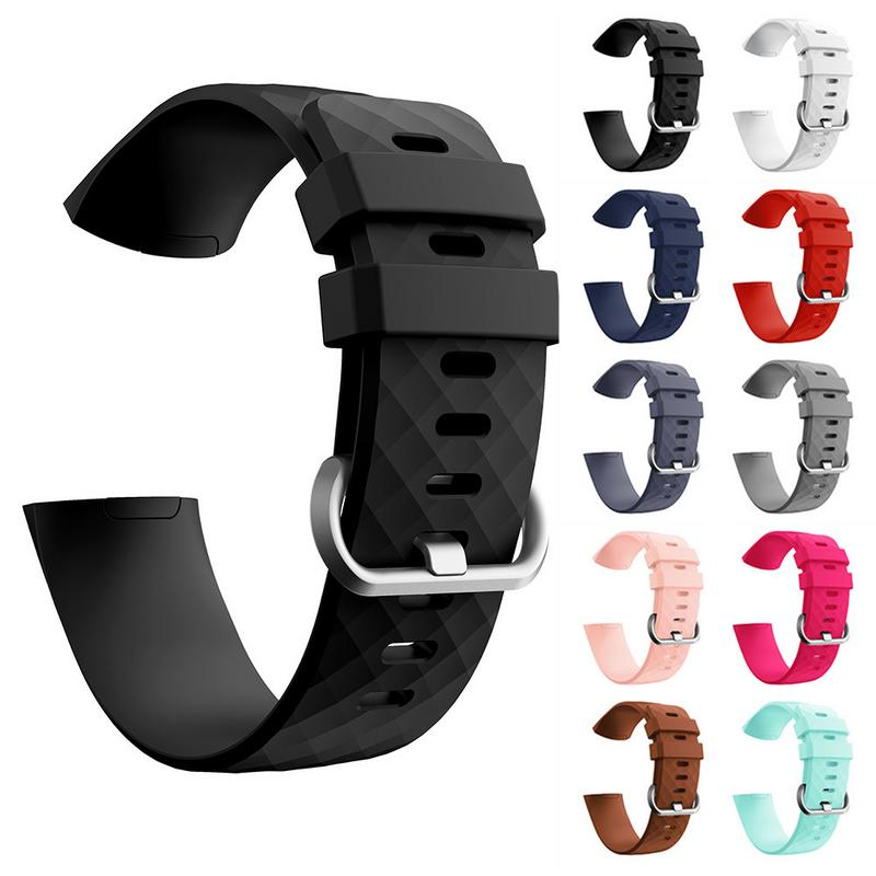 For Fitbit Charge 3 Soft Silicone Sports Replacement Watch Bands Wrist Strap Smart Bracelet Wrist Band S L fitbit watch