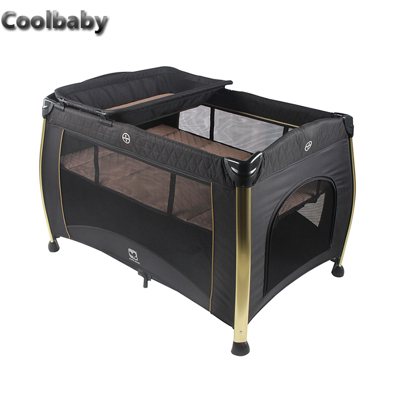 Coolbaby Multifunctional Folding Bed Portable Baby Cradle With Mosquito Net Baby Shaker