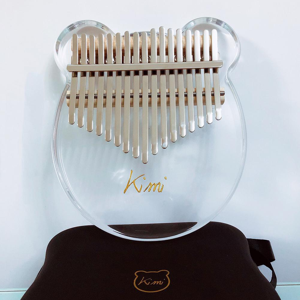 Newest 17 key Kalimba Acrylic Thumb Piano 17 Keys Mbira Transparent Keyboard Instrument with Tuner Hammer + Gig Bag Kimi Calimba-in Piano from Sports & Entertainment    2