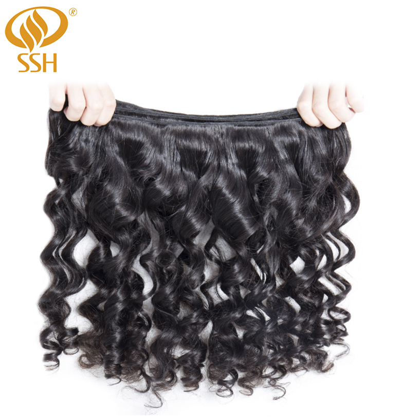 Image 3 - SSH 100% Remy Human Hair Loose Wave Bundles 1/3 PCS 8 28 inch Hair Weave Extensions-in 3/4 Bundles from Hair Extensions & Wigs