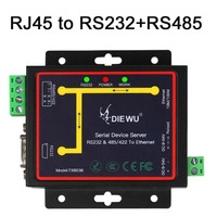 RJ45 to RS232 +RS485 Industrial Serial Device Server RS232 RS485 RS422 to Ethernet TCP/RTU/UDP Converter