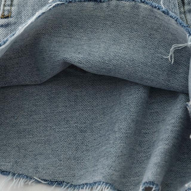 High Waist Hot Denim Shorts 2019 Summer Ripped Tassel Shorts Korean Streetwear Sexy Short Jeans Cowboy Style 5