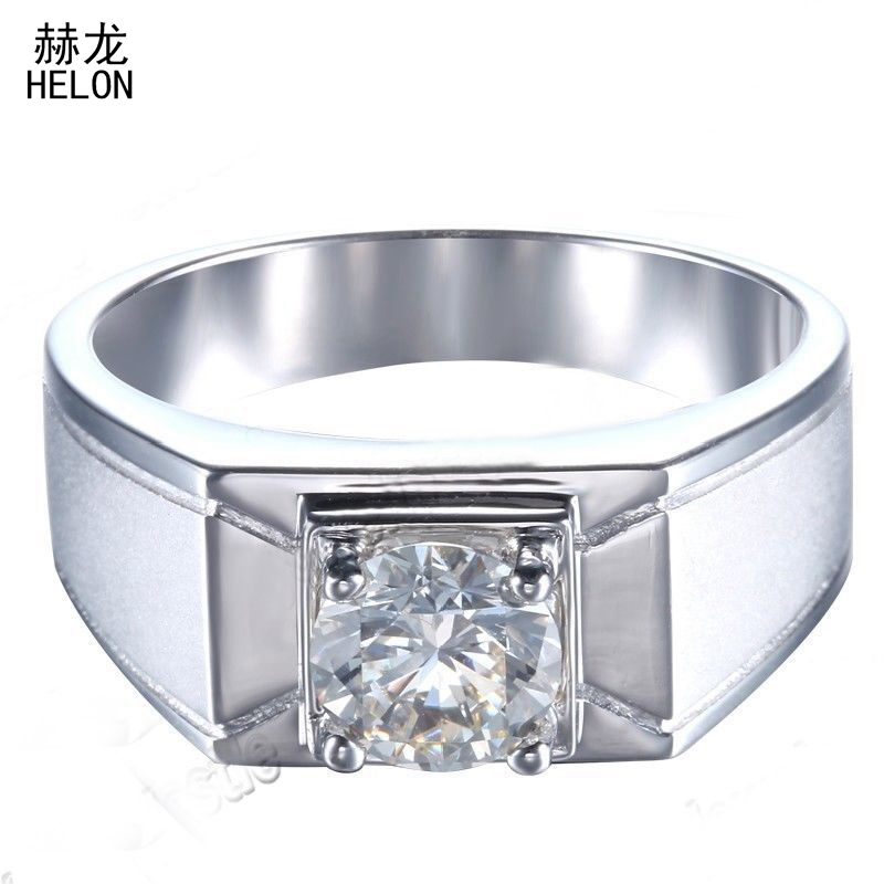 1CT Round Cut 6.5mm Genuine AAA Graded Cubic Zirconia Top Mens Jewelry Sterling Silver 925 Solitaire Ring Band wholesale1CT Round Cut 6.5mm Genuine AAA Graded Cubic Zirconia Top Mens Jewelry Sterling Silver 925 Solitaire Ring Band wholesale