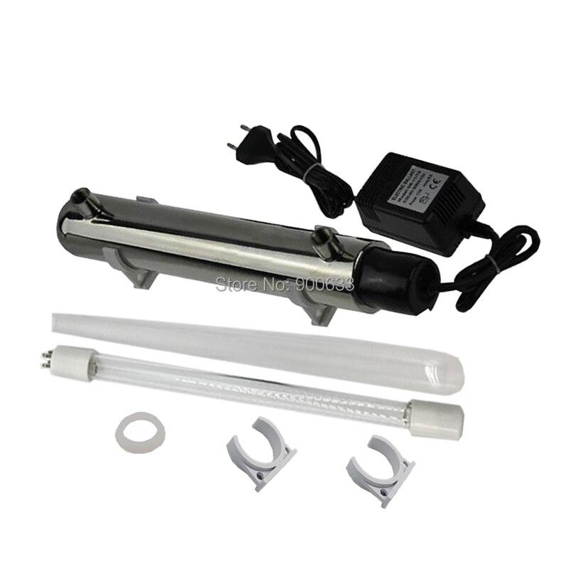 304 acier inoxydable 220 V 12 W 1GMP UV lumière purificateur d'eau lampe UV ménage pré-filtration Tube UV Llight UV-1.0G