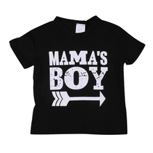 Kids Toddler Infant Baby Boys Cool T-Shirts Mama Boy Printed Tops Short Sleeve Cotton Blend Casual T Shirt Summer Tees