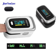 Finger Pulse Fingertip Oled Oximeter SPO2 PR PI RR Blood Oxygen With Respiratory Rate Oximetro De Pulsioximetro Dedo and case цены онлайн