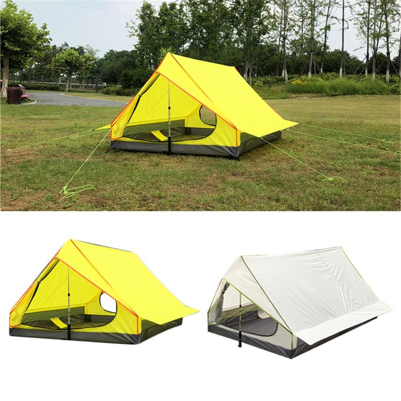 Outdoor Rodless Portable A-Shaped Camping Tent Single Layer Tent Ultra Light Outdoor Equipment Camping SuppliesOutdoor Rodless Portable A-Shaped Camping Tent Single Layer Tent Ultra Light Outdoor Equipment Camping Supplies