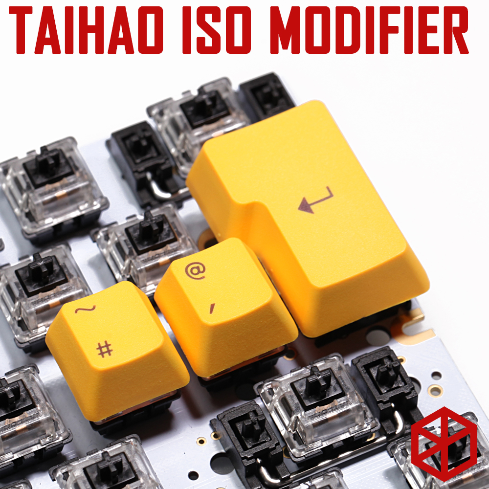 Taihao Abs Pbt  Double Shot Keycaps Iso Modifier 1.25u Shift Gaming Mechanical Keyboard Rainbow Black Orange Red