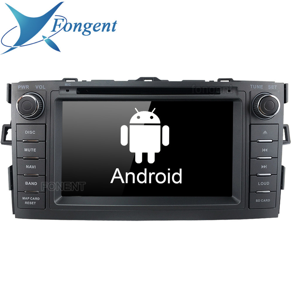 Android Unit 2 din DVD Audio Auto Stereo radio Multimedia Player For Toyota Auris 2008 2009