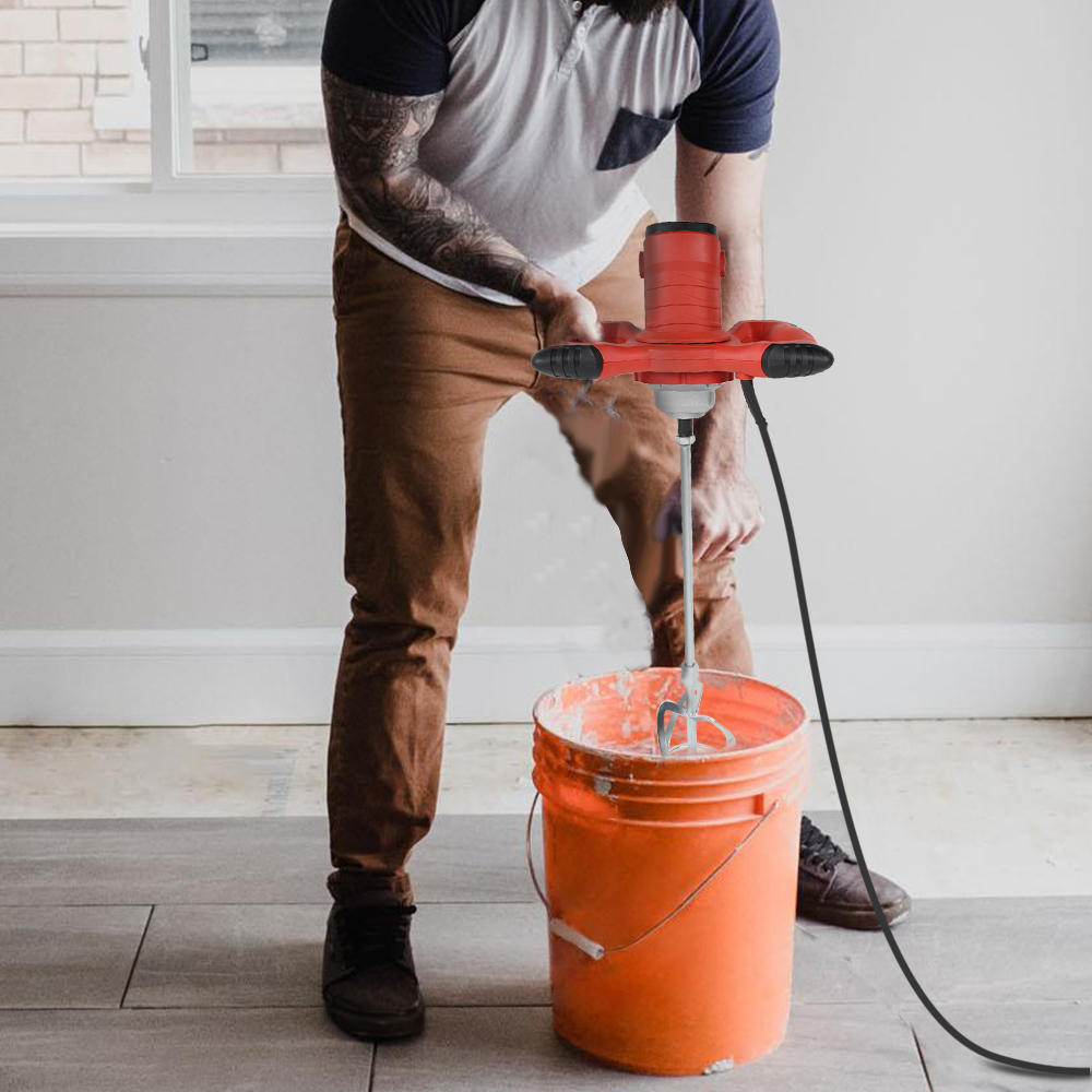 Misturador de grau industrial controle velocidade elétrica handheld pintura cimento gesso argamassa revestimento misturador massa pó máquina mistura