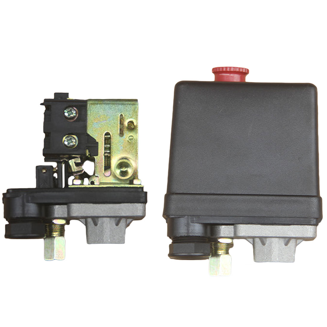1pc Pressure Control Switch Air Compressor Valve Single Hole Relief Regulator Pressure Switch Stand Gauges 1/4 Thread1pc Pressure Control Switch Air Compressor Valve Single Hole Relief Regulator Pressure Switch Stand Gauges 1/4 Thread