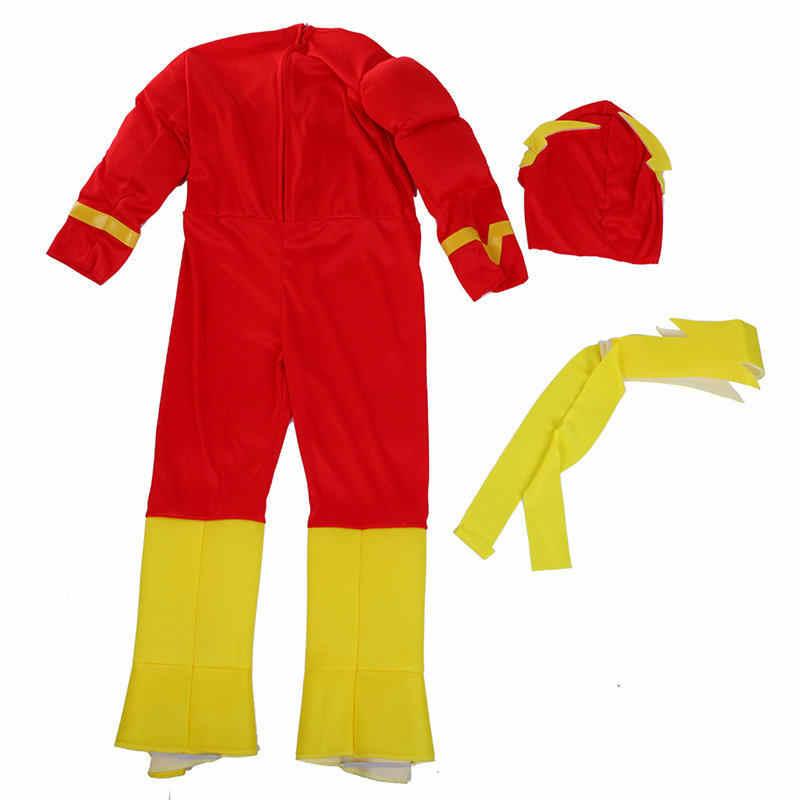 Venda quente menino o flash músculo super-herói fantasia vestido crianças fantasia comics filme carnaval festa halloween fantasias cosplay
