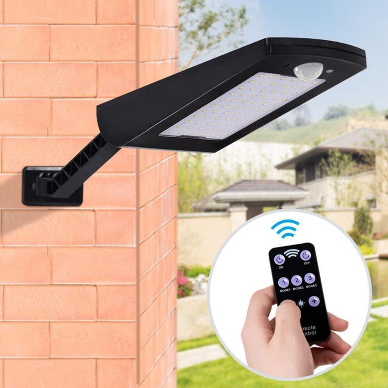 1000lm Solar Licht Pir Motion Sensor 66 Led Wand Lampe Mit Fernbedienung Wasserdichte Solar Powered Lampe Für Garten Im Freien Krankheiten Zu Verhindern Und Zu Heilen