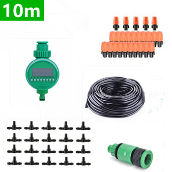 10m Diy Automatic Micro Drip Irrigation Set Plants Watering System Kits Garden Dripper Head Connector For Flowerspot Plants