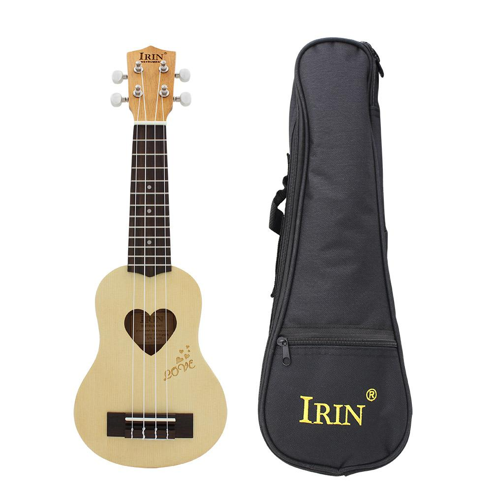 IRIN 17 pouces 12 frettes Sapele épicéa ukulélé guitare 4 cordes hawaïenne guitare Instruments de musique avec sac pour débutants cadeau - 2