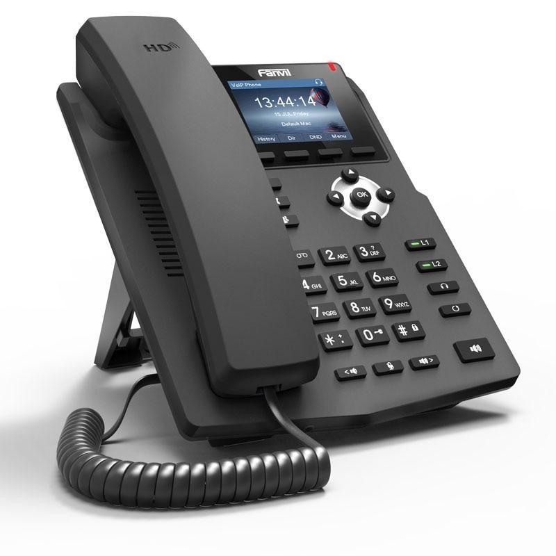 2 lignes SIP téléphone voip écran couleur téléphone IP de bureau d'entrée de gamme prend en charge 2 comptes sip
