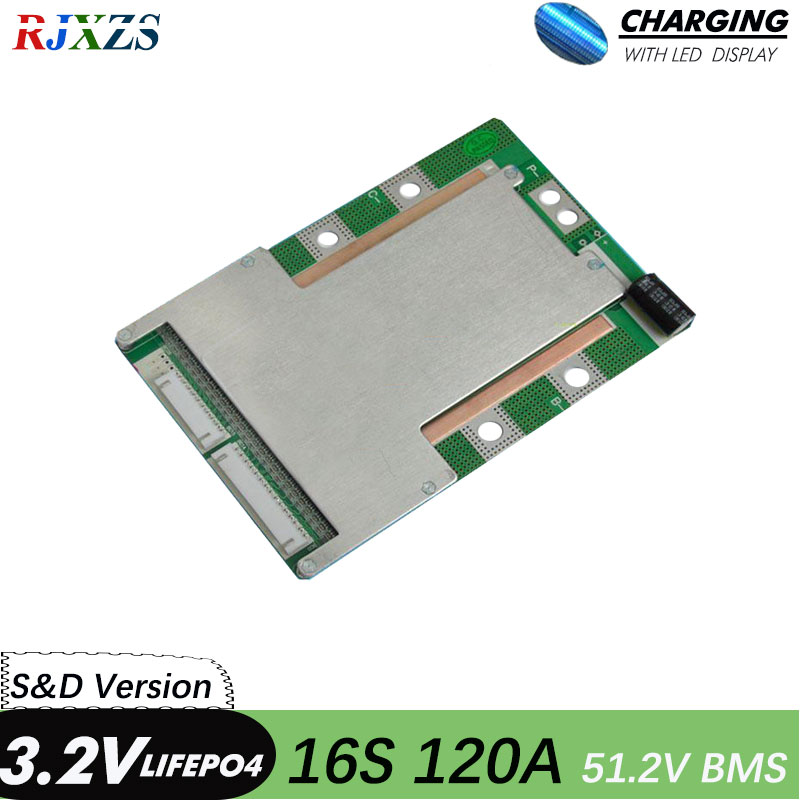 BMS 16S 80A 100A 12BMS 16S 48V version S LiFePO4 BMS PCM PCB battery board for