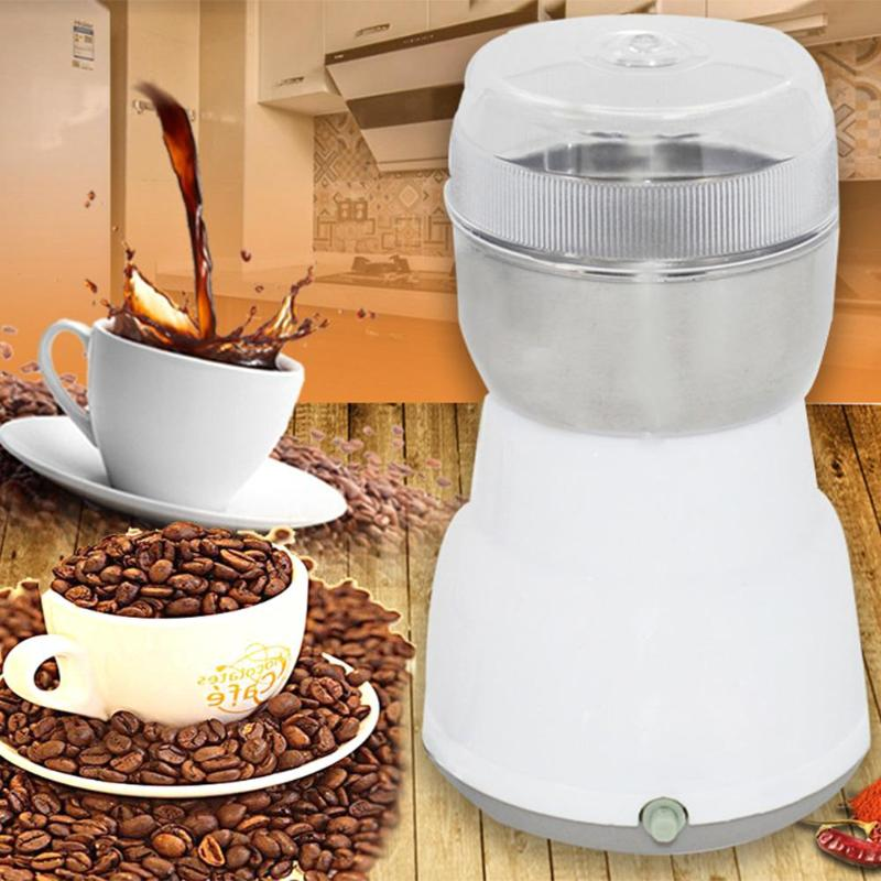 220V Electric Cafe Grinder Multi-functional EU Plug Coffee Grinder Stainless Spices/Nuts/Grains/Coffee Bean Grinding Tool luomu multi color 220v eu plug