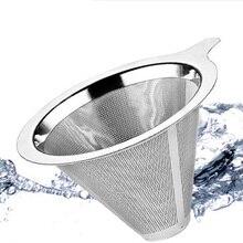 1 шт. S/M/L фильтр для кофе с подставкой для пивоварения Кофейная, из нержавеющей стали сеточный фильтр для кофе залейте конус капельницы оборудование Новое