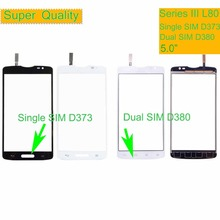 10Pcs For LG Series III L80 Single D373 Dual SIM D380 Touch Screen Panel Sensor Digitizer Front Glass Outer Touchscreen