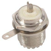 цена на UHF Female SO239 Jack Bulkhead Solder Panel Mount RF Straight Connector,silver