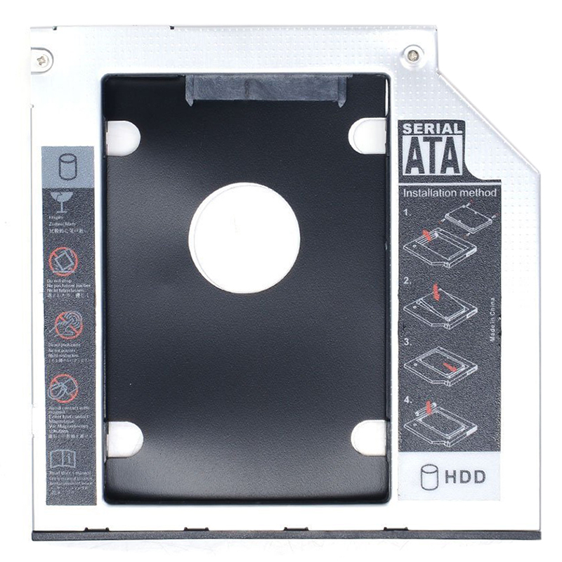 """Universal 2.5/"""" SATA 2nd HDD SSD 9.5mm Hard Drive Caddy Adapter for Laptop PC"""