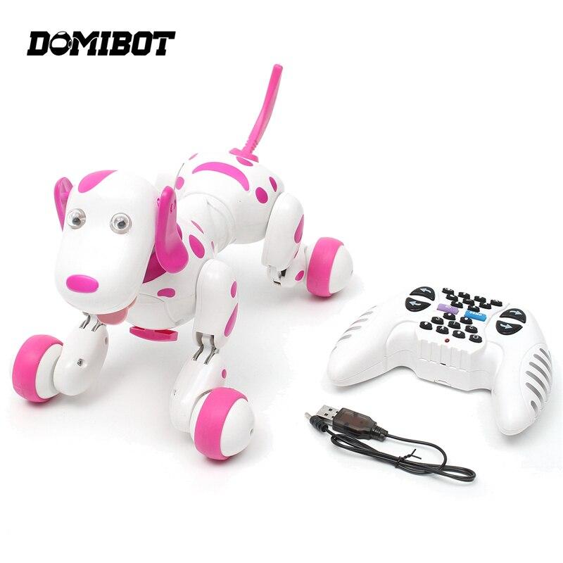 Domibot 2.4G RC intelligent danse marche télécommande Robot chien électronique Pet RC Robot rose