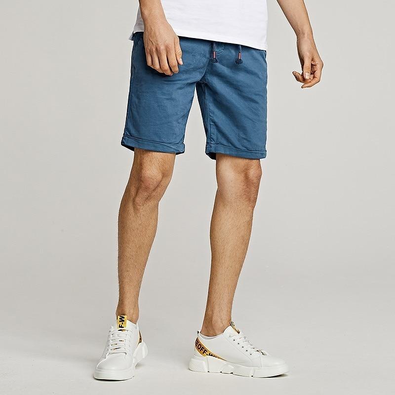 Shorts Herren Bermuda Jeans Shorts Zerrissen Hose Kurz Baumwolle Schlank Fit