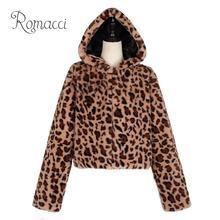 Plus la Taille Manteau D hiver De Mode léopard veste Femmes À Capuche En  Fausse Fourrure Manteau Abrigo Imprimé Léopard À Manche. 157208081f8