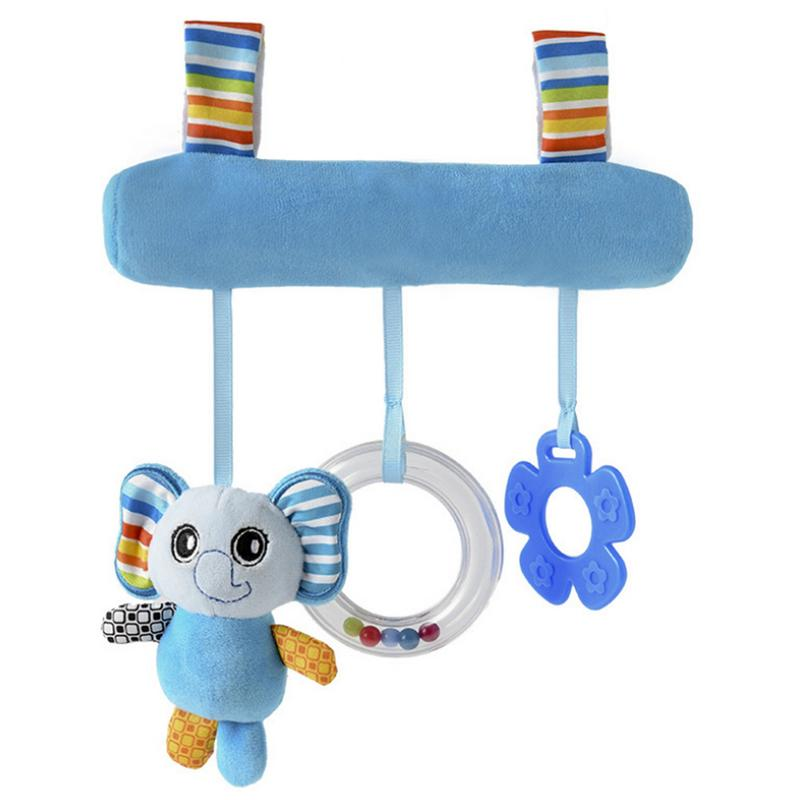 Multifunctional Plush Toy Carriage Pendant Animal Car Hanging Bell Hanging Rattle For Baby Suitable For Crib, Stroller thumbnail
