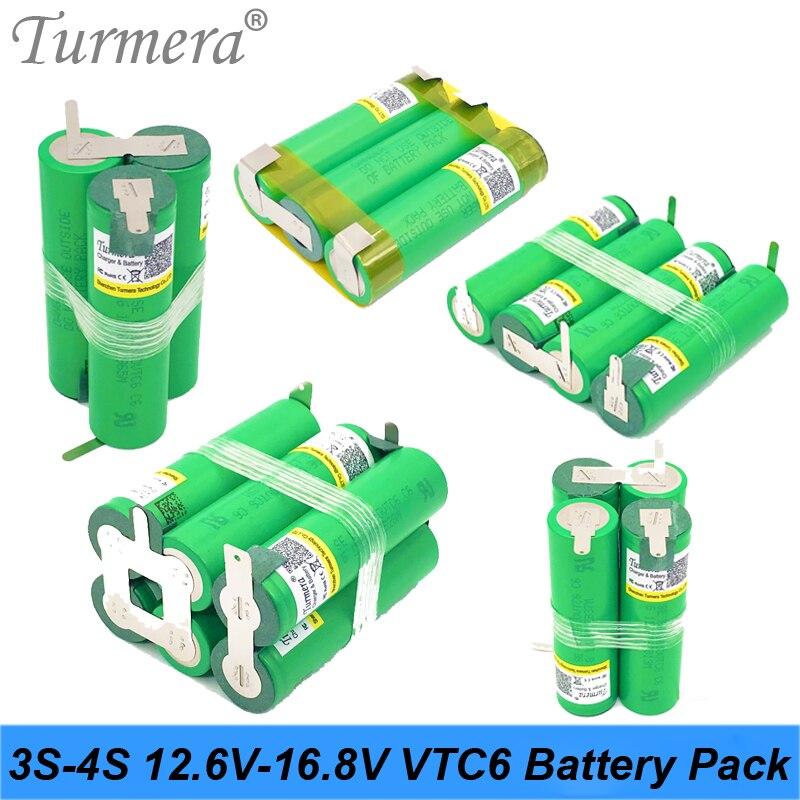 Batería 3S 12,6 V 4S 16,8 V US18650VTC6 3000mah 30A corriente de descarga para batería de destornillador shura (personalizar)