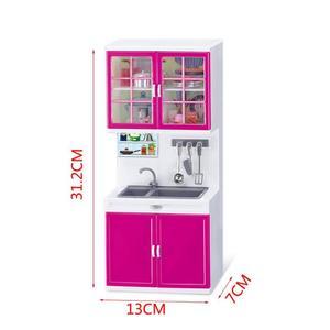Image 4 - Simulazione Mobili Da Cucina Set Bambini Giochi Di Imitazione Strumenti di Cottura Mini Bambole Da Tavola Vestiti Giocattoli Ragazze Dollhouse Giocattolo Gioco Gif