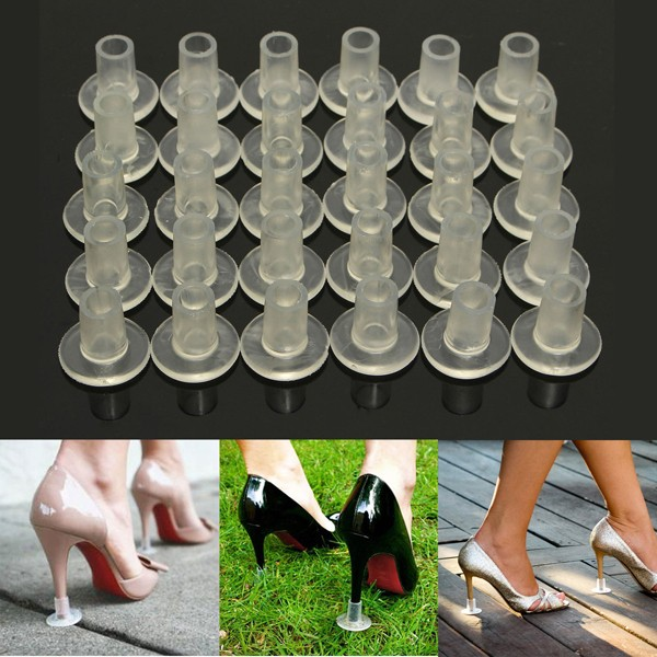4cbbfa36d7 30pcs Clear Stiletto High Heel Protector Covers Shoes Stopper ...