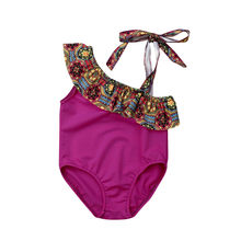 Summer New Toddler Baby Girls Swimwear Swimsuit Bikini Bathing Suit Swimming Beachwear Baby Girl Bodysuits Cotton O-neck(China)