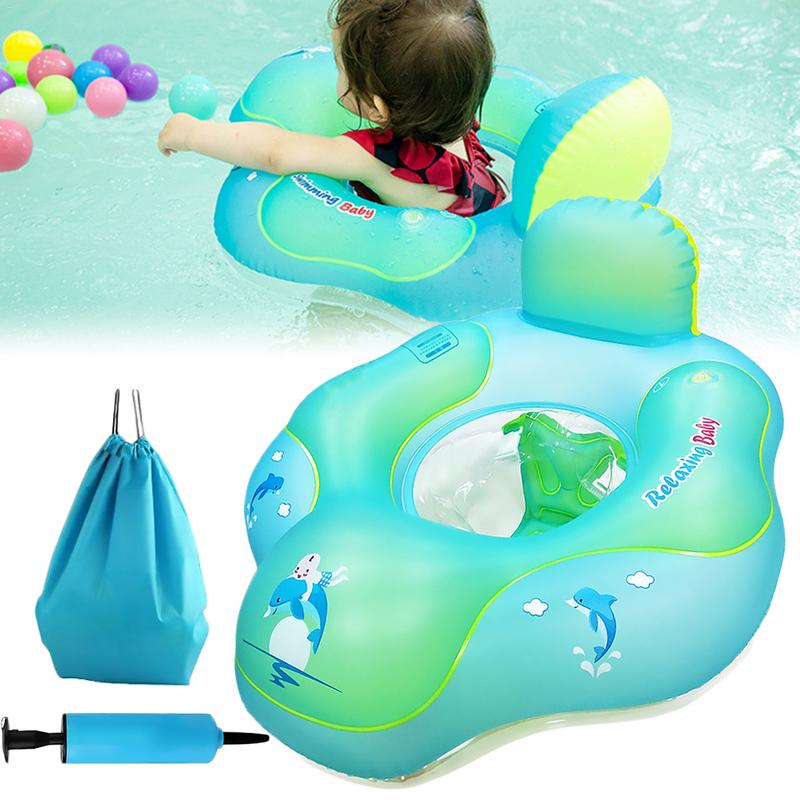 PVC Baby Inflatable Wear Ring Swimming Ring Children Swimming To Prevent Tilt Safety Design Portable Swimming Ring
